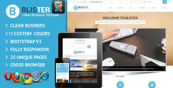 BLISTER Joomla Clean & Business Site Template - Corporate Joomla
