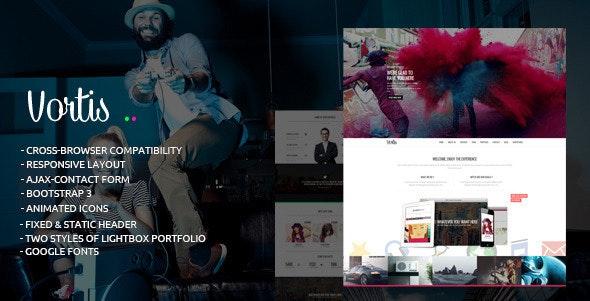 Vortis - Responsive One Page HTML Template - Portfolio Creative