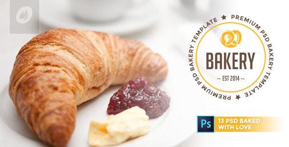 Bakery - Cakery & Bakery PSD Template - Retail Photoshop