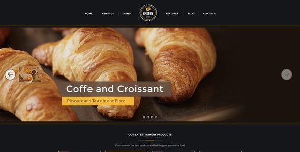 Bakery - Cakery & Bakery PSD Template