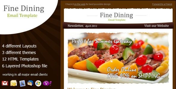 Fine Dining - Newsletter Template - Email Templates Marketing