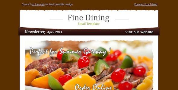 Fine Dining - Newsletter Template