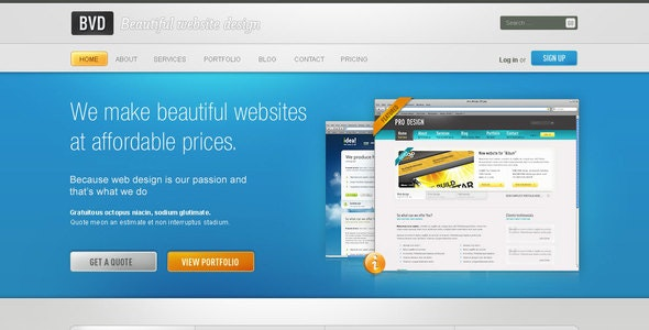 BVD - Beautiful Website Design - Creative PSD Templates