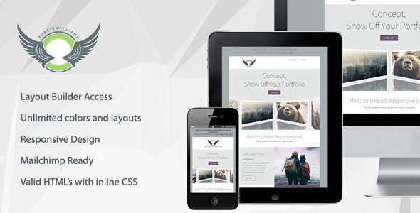 Concept - Responsive Email Template With Builder - Newsletters Email Templates