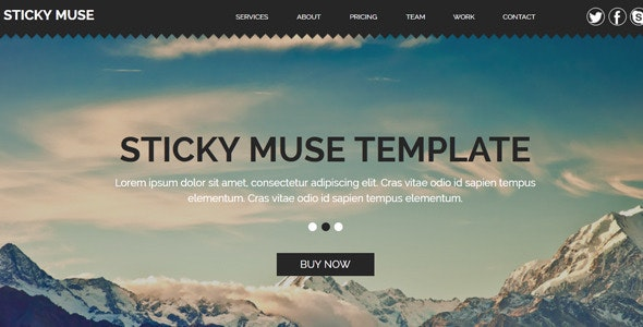 Sticky - Creative Muse Template - Creative Muse Templates