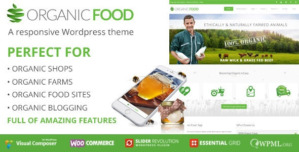 OrganicFood | Responsive WordPress Theme - Food Retail
