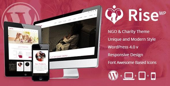 Rise - NGO and Charity Responsive Wordpress Theme - Charity Nonprofit
