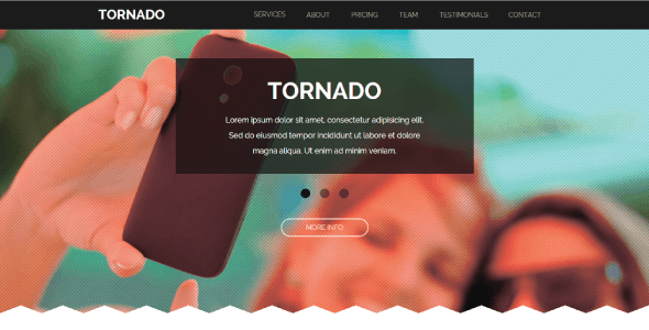 Tornado - One Page Parallax Muse Template - Creative Muse Templates