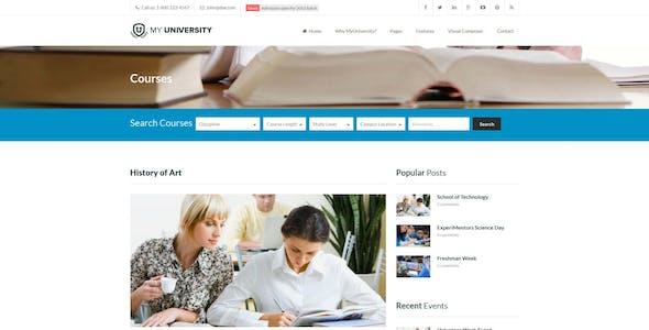 Education WordPress Theme | My University