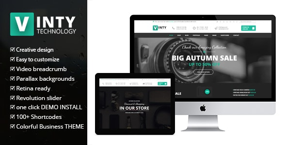 Vinty - WooCommerce Business WordPress Theme - WooCommerce eCommerce