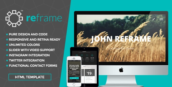ReFrame Photo - Responsive Photography HTML Template - Photography Creative