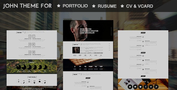 John-Parallax Resume Muse Template - Personal Muse Templates