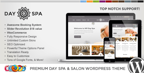 WP Day Spa & Salon WordPress Theme - Health & Beauty Retail