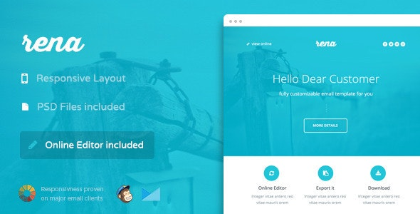 Rena - Responsive Email + Themebuilder Access - Newsletters Email Templates