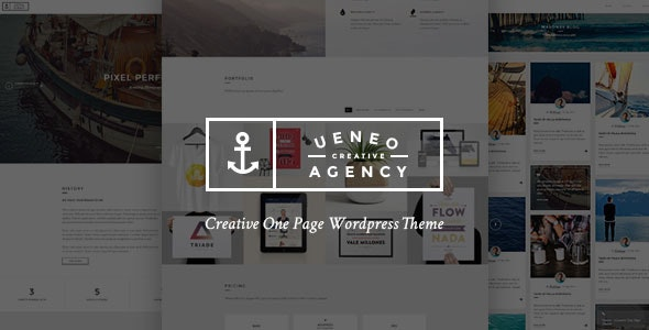 Ueneo - Creative One Page Parallax WordPress Theme - Creative WordPress