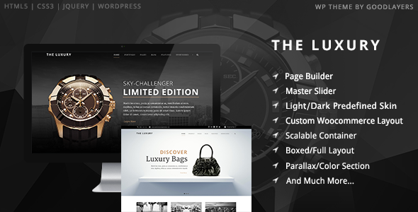 The Luxury – Dark / Light Responsive WordPress