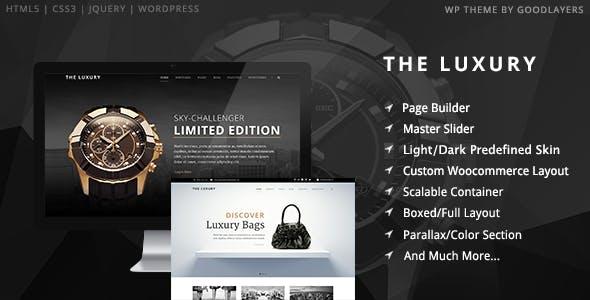 The Luxury - Dark / Light Responsive WordPress