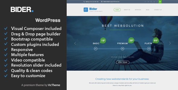 Bider - Multipurpose Business WordPress Theme - Business Corporate