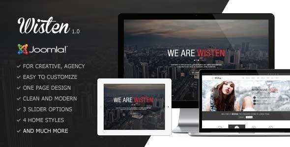 Wisten - One Page Parallax Joomla Template - Creative Joomla