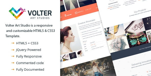 Volter Art Studio | Responsive One Page HTML5 & CSS3 - Creative Site Templates