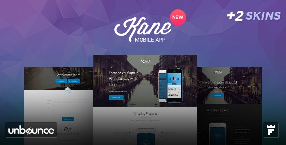 Kane - Unbounce App Landing Page - Unbounce Landing Pages Marketing