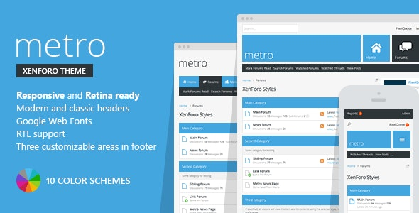 Metro — XenForo Responsive & Retina Ready Theme - Miscellaneous Forums