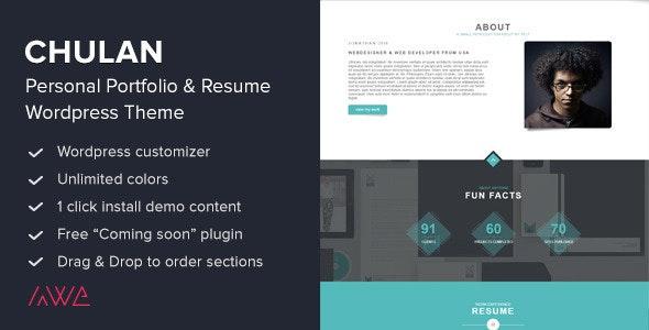 Chulan - Personal Portfolio & Resume Theme - Portfolio Creative