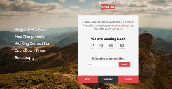 Spatial - Responsive Under Construction Template - Under Construction Specialty Pages