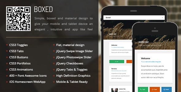 Boxed Mobile - Mobile Site Templates
