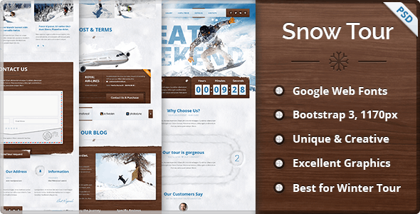 Snow Tour - Responsive Winter Travel Landing Page - Travel Retail