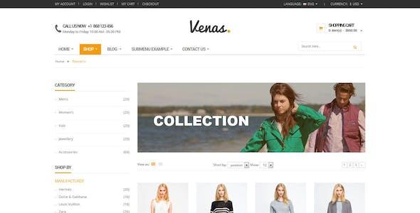 Venas - A Retail E-commerce Store Template