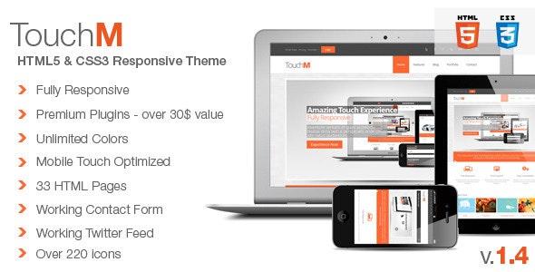 TouchM Premium HTML5 Multipurpose Responsive - Corporate Site Templates