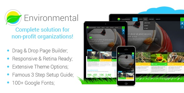 Environmental - Responsive WordPress Theme - Environmental Nonprofit