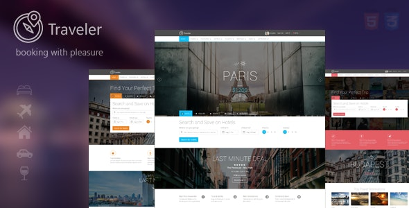 Traveler - Multipurpose Booking Template - Travel Retail
