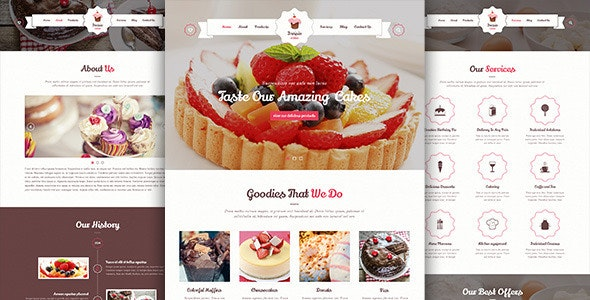 Invisio Cake - Sweet PSD Template - Food Retail