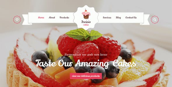 Invisio Cake - Sweet PSD Template