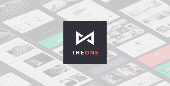THEONE - Parallax Onepage Responsive  HTML Template - Portfolio Creative