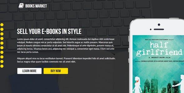 Books Market - Creative Landing Page Template