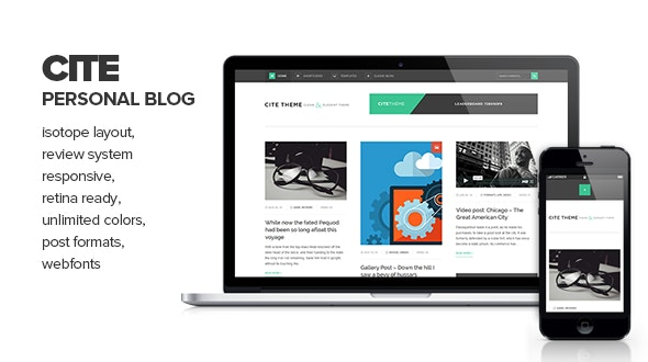 Cite - Clean & Elegant Personal Blogging Theme - Personal Blog / Magazine