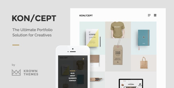 KON/CEPT - A Portfolio Theme for Creative People - Portfolio Creative