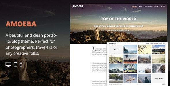 Amoeba - Blog/Portfolio Parallax Responsive Theme - Creative WordPress