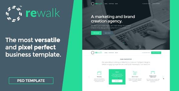 ReWalk Business - Business PSD Template