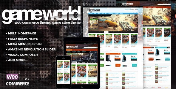 WooCommerce Game Theme - GameWorld - WooCommerce eCommerce
