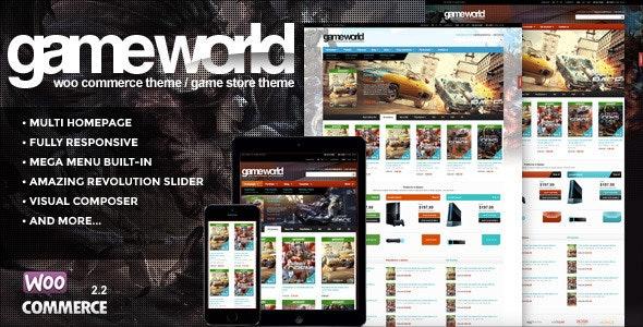 WooCommerce Game Theme - GameWorld - WooCommerce eCommerce