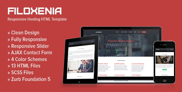Filoxenia - Responsive Hosting HTML Template - Hosting Technology
