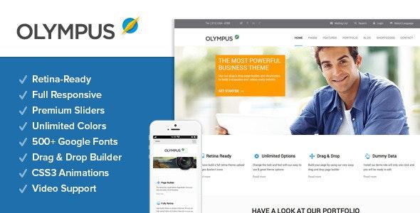 Olympus - Responsive Multi-Purpose Wordpress Theme - Business Corporate