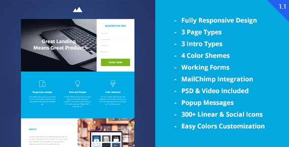 Revenue - Startup Landing Page
