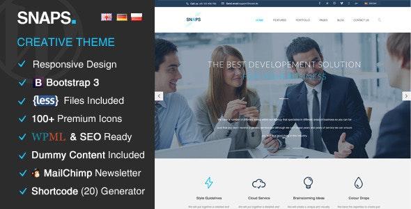 Snaps - Creative Wordpress Theme - Portfolio Creative