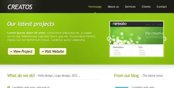 Creatos - Clean & Sytlish Website Layout - Creative Photoshop