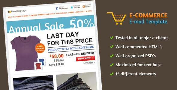 E-commerce E-mail Template - Email Templates Marketing
